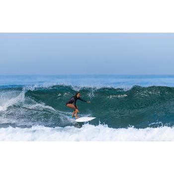 Shorty de surf femme manches longues et zip frontal