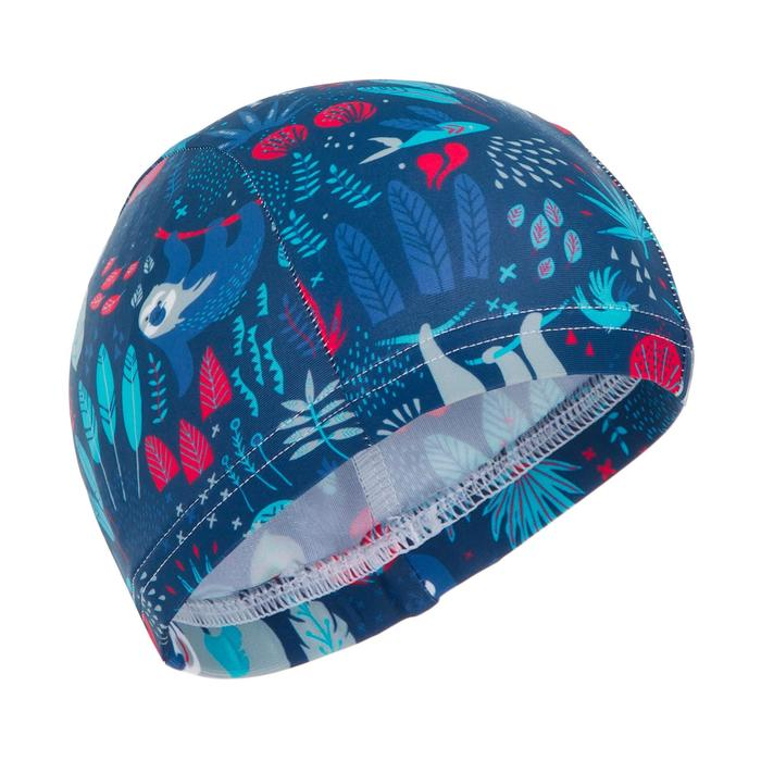 Bonnet de bain bébé imprimé bleu marine en maille