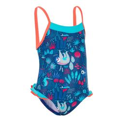 Peuterbadpak voor meisjes Madina met print donkerblauw