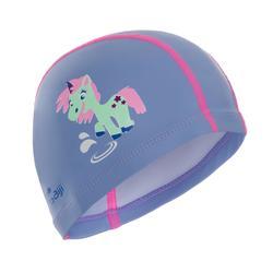 矽膠塗層網眼印花泳帽500