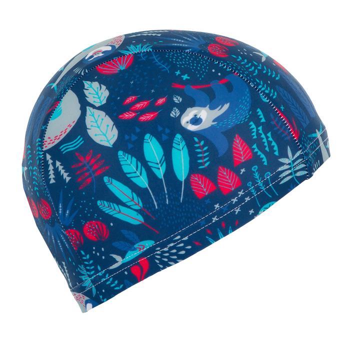 Stoff-Badekappe Baby Print marineblau