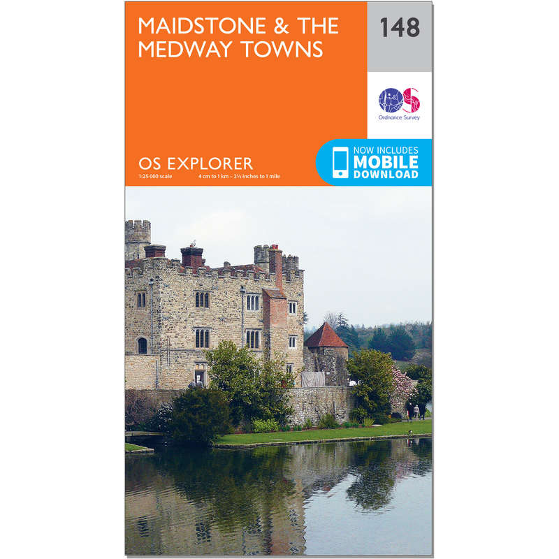 MAPS HIKING/TREK Hiking - OS Explorer Map - 148 - Maidstone & The Medway Towns ORDNANCE SURVEY - Hiking Gear and Equipment