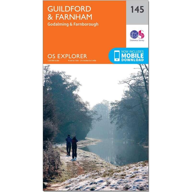 MAPS HIKING/TREK Hiking - OS Explorer Map - 145 - Guildford & Farnham ORDNANCE SURVEY - Hiking Gear and Equipment