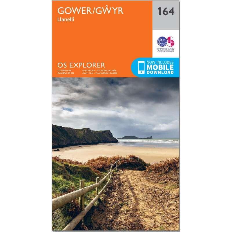 MAPS HIKING/TREK Hiking - OS Explorer Map - 164 - Gower/Gwyr ORDNANCE SURVEY - Hiking Gear and Equipment