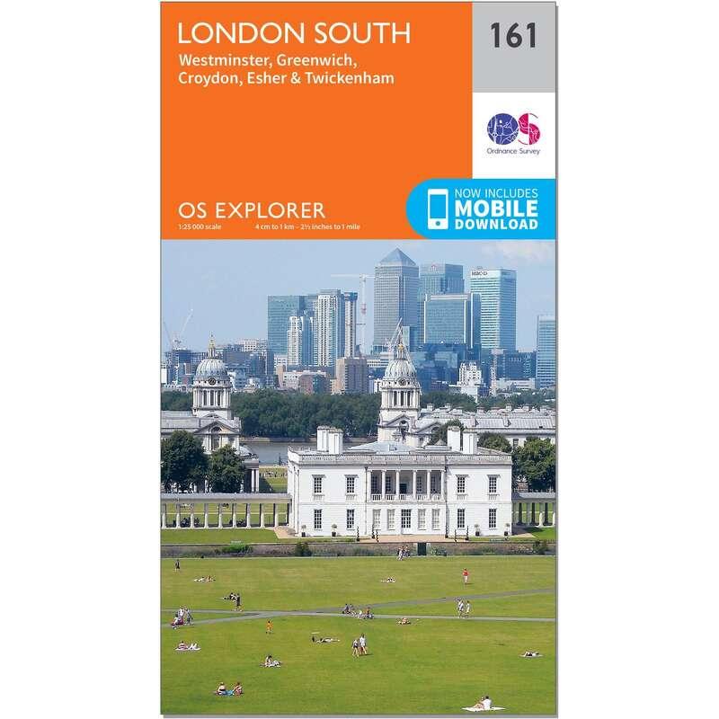 MAPS HIKING/TREK Hiking - OS Explorer Map - 161 - London South ORDNANCE SURVEY - Hiking Gear and Equipment