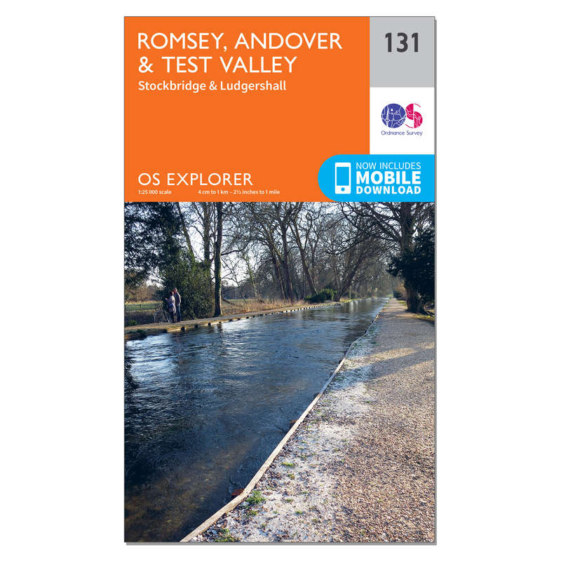 MAPS HIKING/TREK Hiking - OS Explorer Map - 131 - Romsey, Andover & Test Valley ORDNANCE SURVEY - Hiking Gear and Equipment