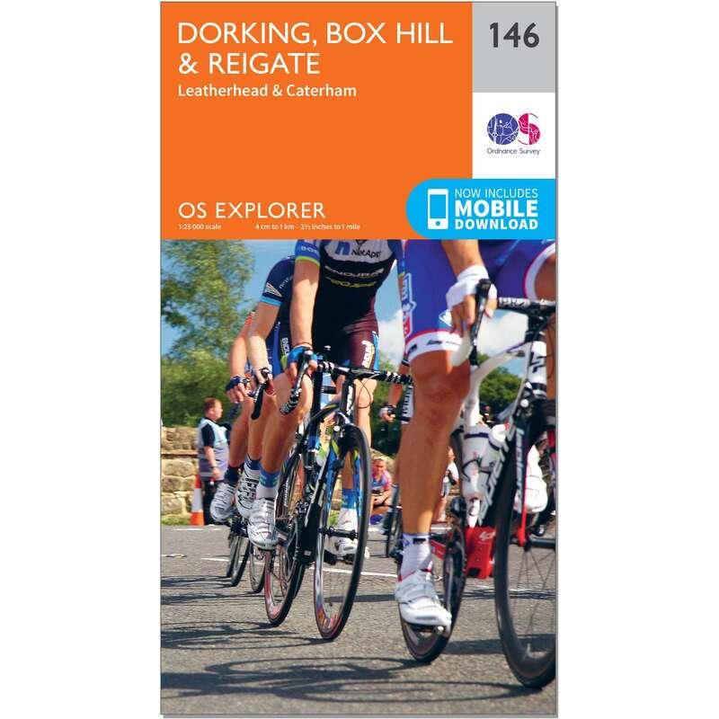 MAPS HIKING/TREK Hiking - OS Explorer Map - 146 - Dorking, Box Hill & Reigate ORDNANCE SURVEY - Hiking Gear and Equipment