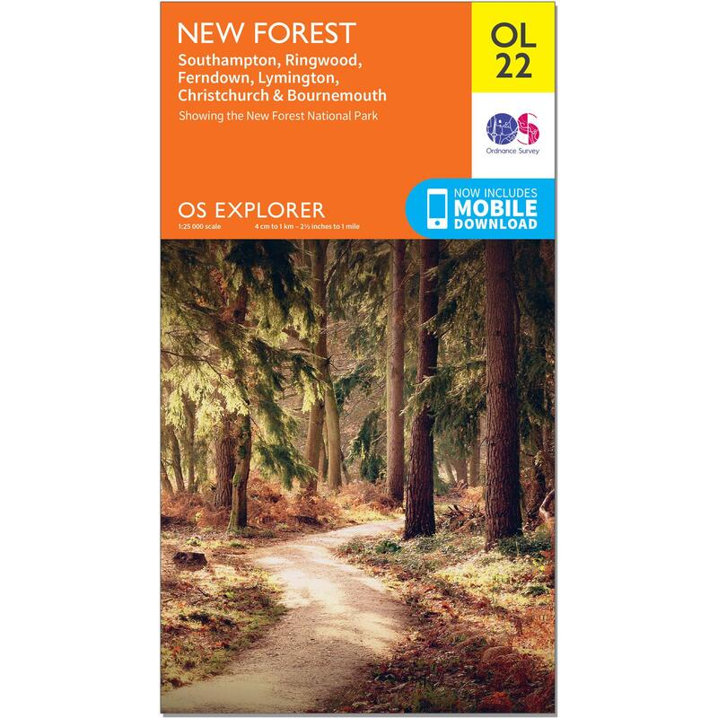 OS Explorer Leisure Map - OL22 - New Forest