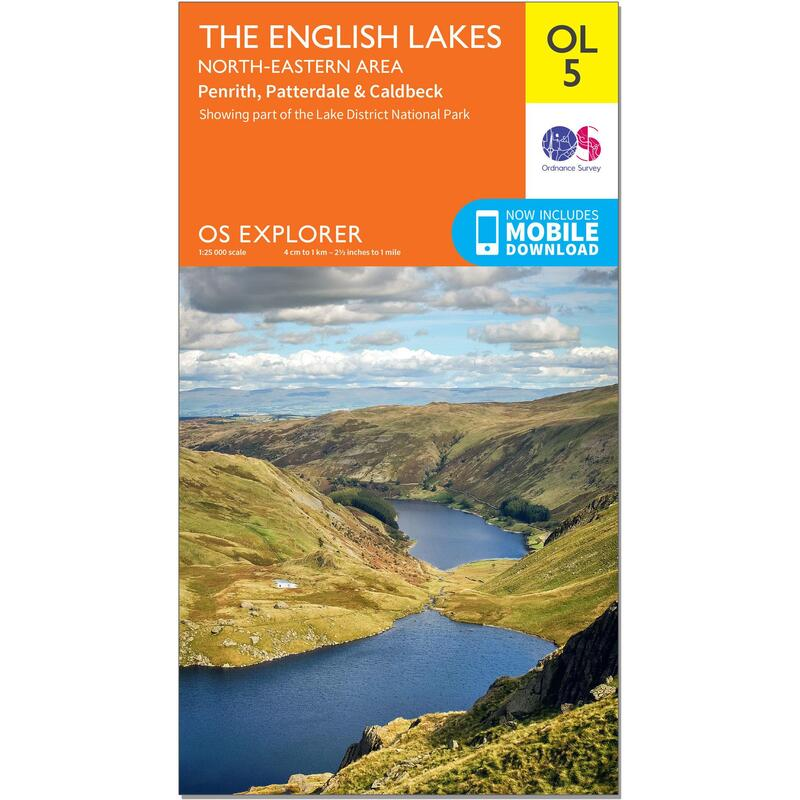OS Explorer Leisure Map - OL5 - The English Lakes - North Eastern
