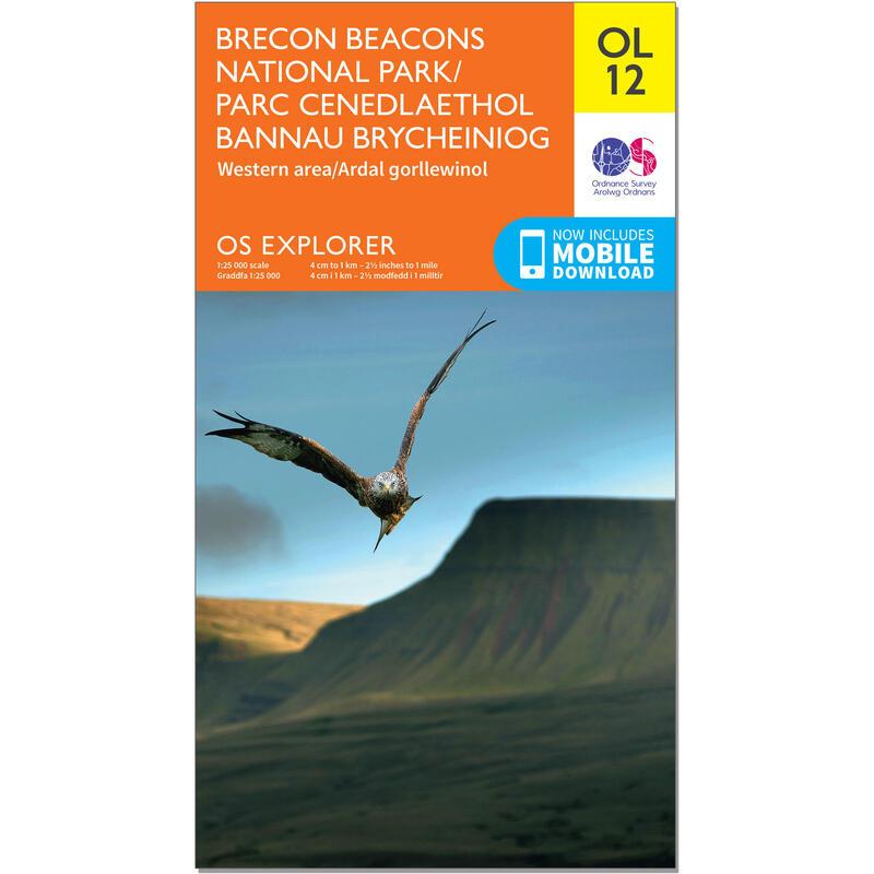 OS Explorer Leisure Map - OL12 - Brecon Beacons National Park West