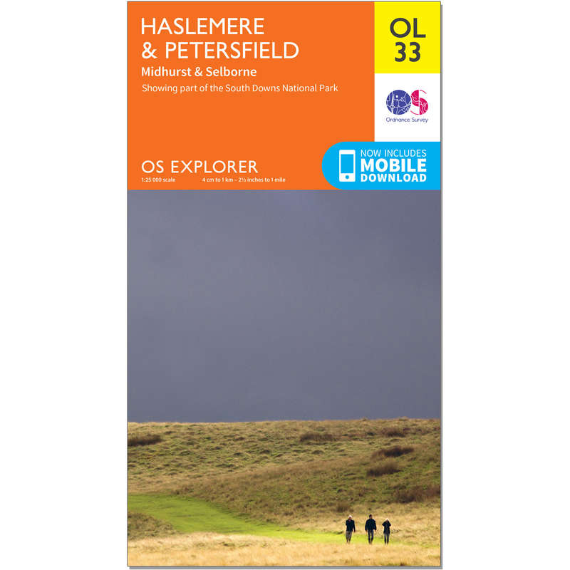 MAPS HIKING/TREK Hiking - OS Explorer Leisure Map - OL33 - Haslemere & Petersfield ORDNANCE SURVEY - Hiking Gear and Equipment