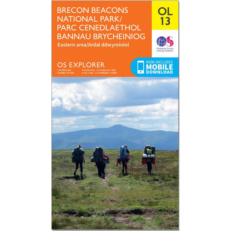 OS Explorer Leisure Map - OL13 - Brecon Beacons Nat. Park - East