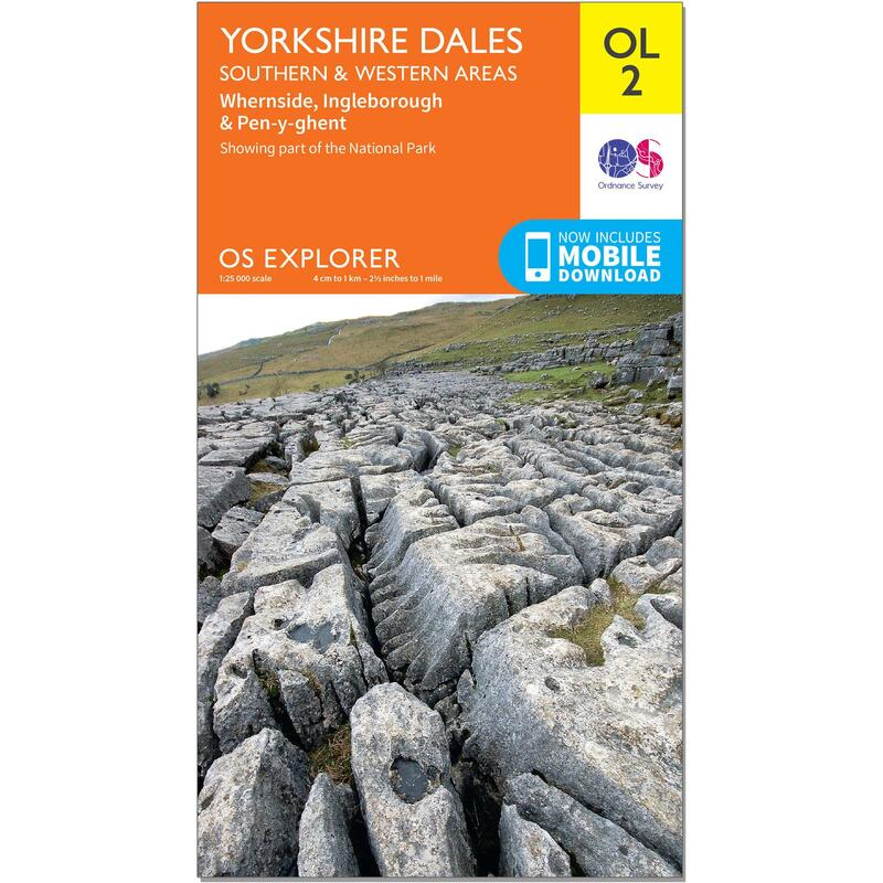 OS Explorer Leisure Map - OL2 - Yorkshire Dales - Southern & Western