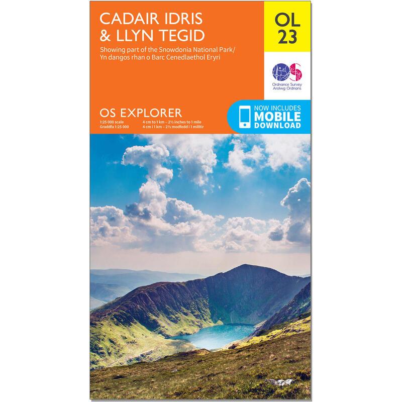 OS Explorer Leisure Map - OL23 - Cadair Idris & Llyn Tegid