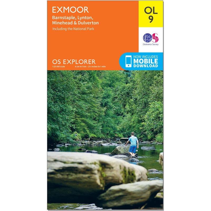 OS Explorer Leisure Map - OL9 - Exmoor