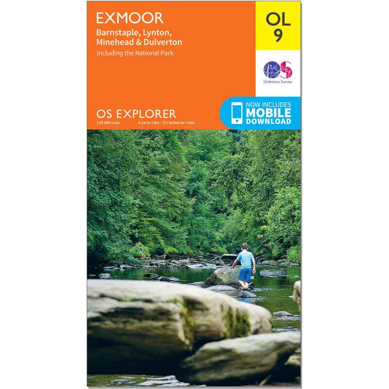 MAPS HIKING/TREK Hiking - OS Explorer Leisure Map - OL9 - Exmoor ORDNANCE SURVEY - Hiking Gear