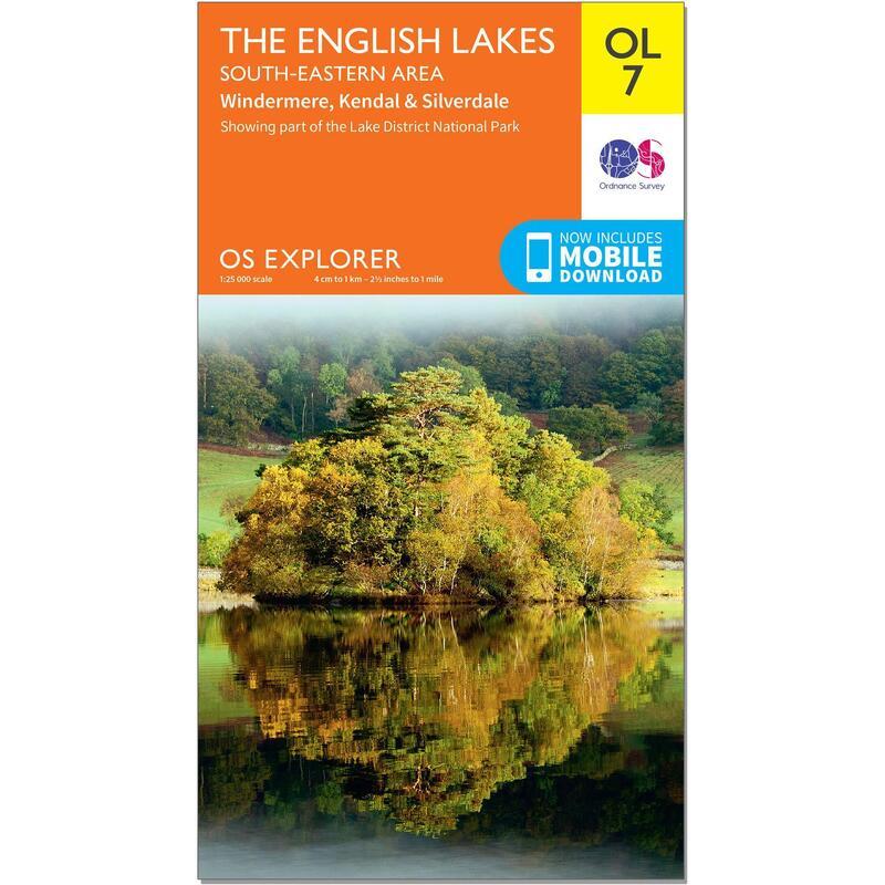 OS Explorer Leisure Map - OL7 - The English Lakes - South Eastern