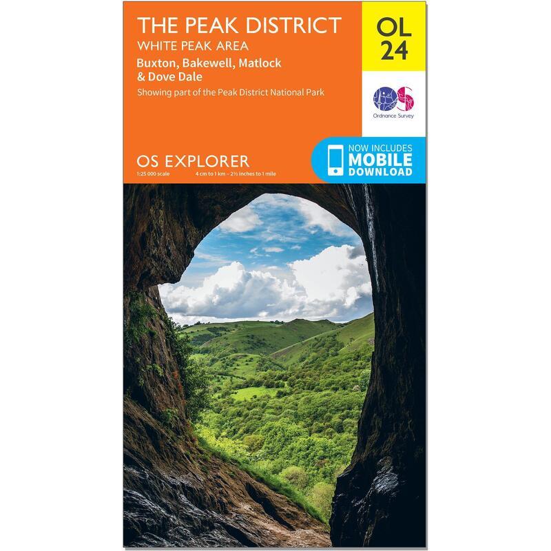 OS Explorer Leisure Map - OL24 - The Peak District, White Peak