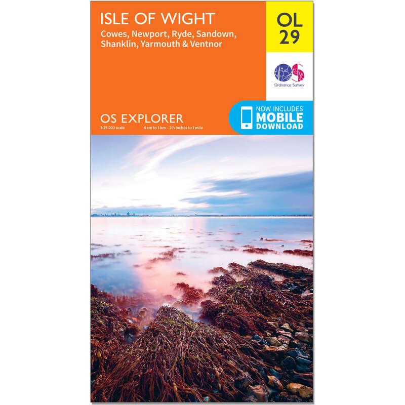MAPS HIKING/TREK Hiking - OS Explorer Leisure Map - OL29 - Isle of Wight ORDNANCE SURVEY - Hiking Gear and Equipment