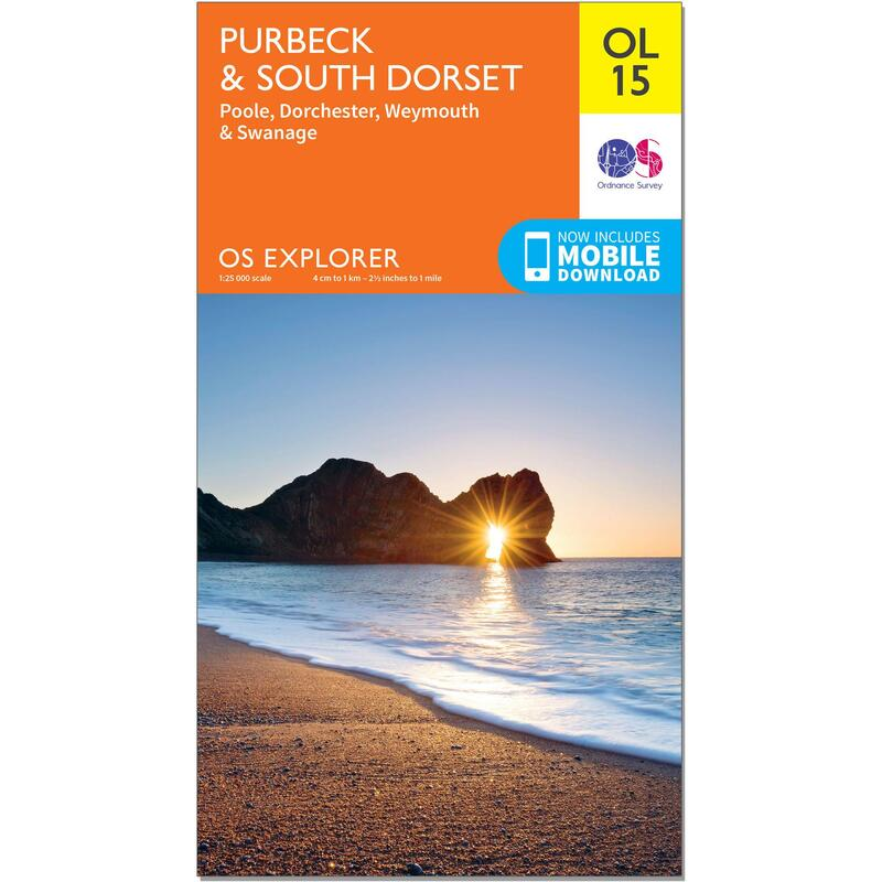 OS Explorer Leisure Map - OL15 - Purbeck & South Dorset