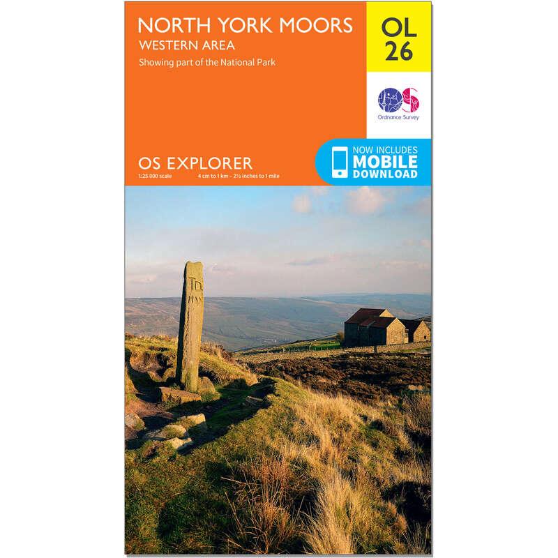 MAPS HIKING/TREK Hiking - OS Explorer Leisure Map - OL26 - North York Moors - Western area ORDNANCE SURVEY - Hiking Gear