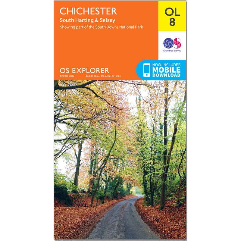 MAPS HIKING/TREK Hiking - OS Explorer Leisure Map - OL8 - Chichester, South Harting ORDNANCE SURVEY - Hiking Gear