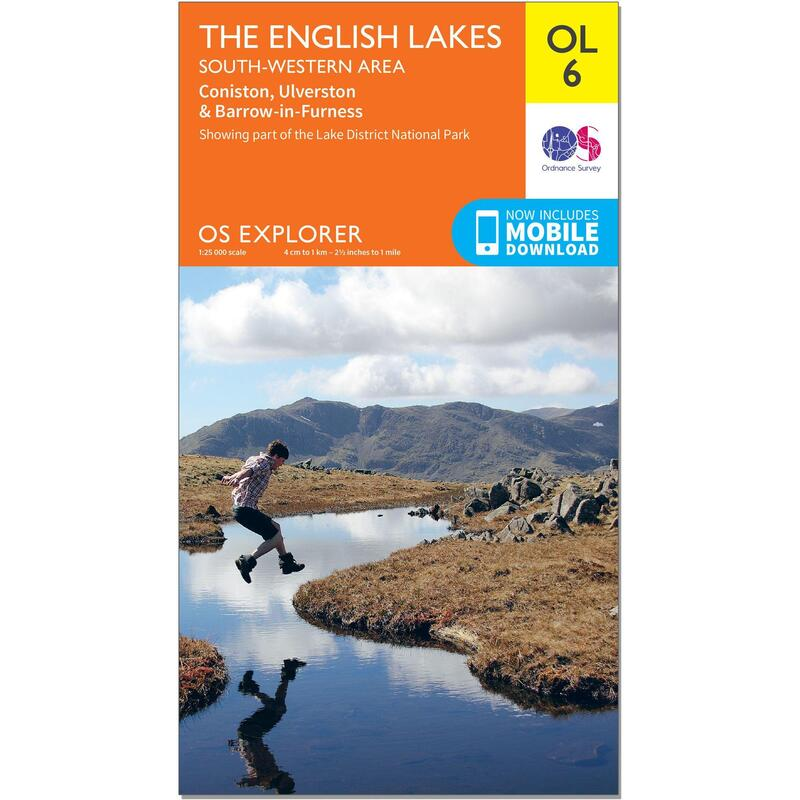 OS Explorer Leisure Map - OL6 - The English Lakes - South Western