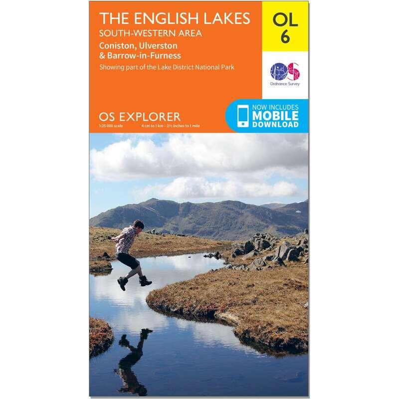 MAPS HIKING/TREK Hiking - OS Explorer Leisure Map - OL6 - The English Lakes - South Western ORDNANCE SURVEY - Hiking Gear and Equipment