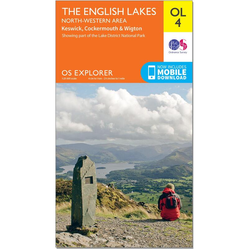 OS Explorer Leisure Map - OL4 - The English Lakes - North Western