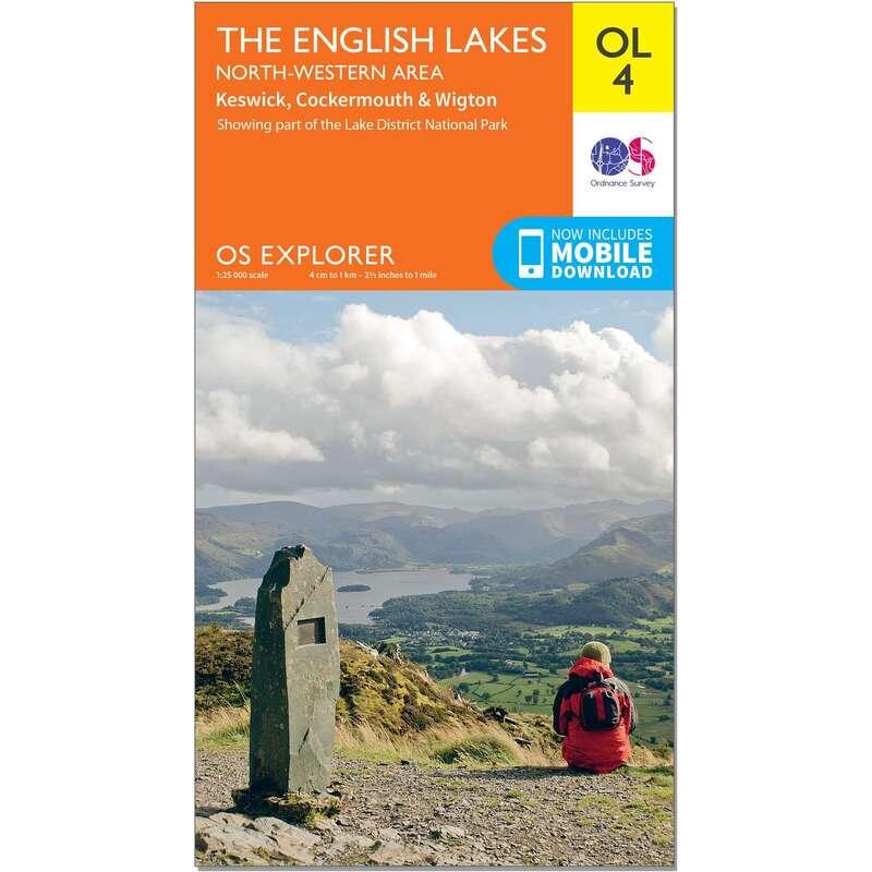 MAPS HIKING/TREK Hiking - OS Explorer Leisure Map - OL4 - The English Lakes - North Western ORDNANCE SURVEY - Hiking Gear and Equipment