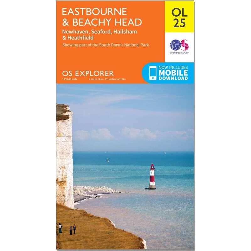 MAPS HIKING/TREK Hiking - OS Explorer Leisure Map - OL25 - Eastbourne & Beachy Head ORDNANCE SURVEY - Hiking Gear and Equipment