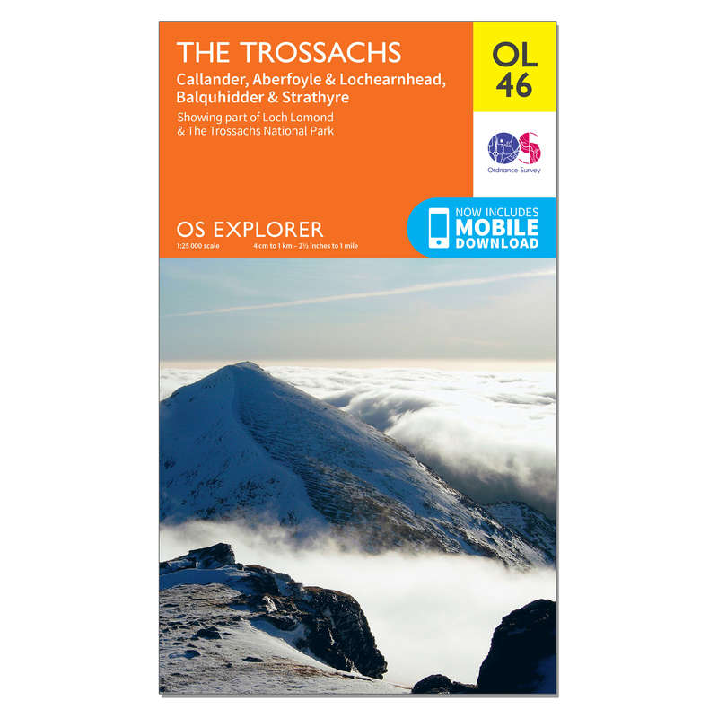MAPS HIKING/TREK Hiking - OS Explorer Leisure Map - OL46 - The Trossachs ORDNANCE SURVEY - Hiking Gear