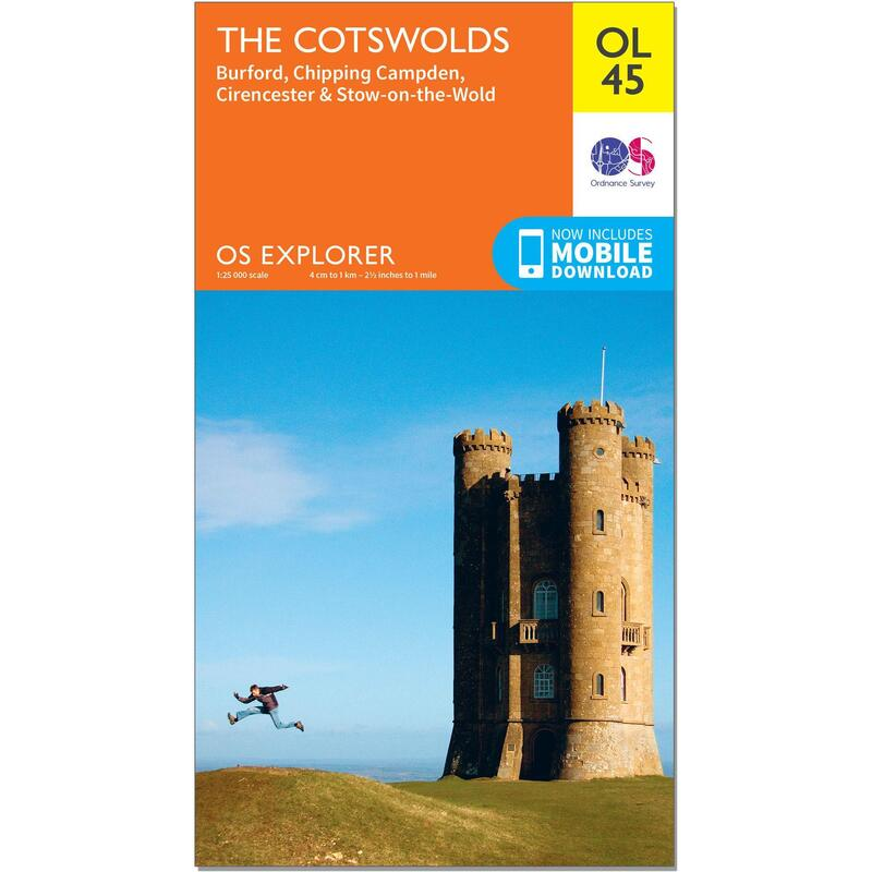 OS Explorer Leisure Map - OL45 - The Cotswolds