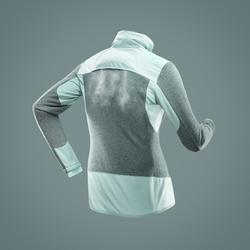 Fleece vest voor sneeuwwandelen dames SH500 X-warm grijs/groen
