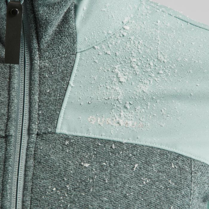 Fleece vest dames SH500 X-warm grijs/groen
