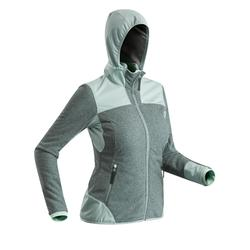 Women's Snow Hiking Fleece SH500 X-Warm - Grey-Green