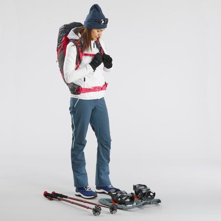 Pantalon de randonnée neige femme SH520 x-warm gris-bleu