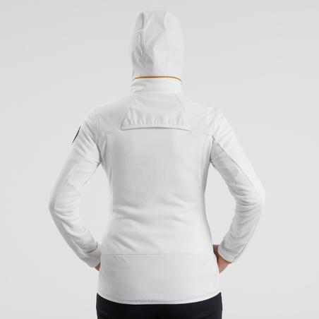 Women's X-Warm Snow Hiking Fleece Jacket SH500 - White