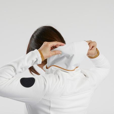Veste polaire de randonnée neige femme SH500 x-warm blanche