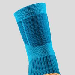 Chaussettes chaudes de randonnée enfant SH520 x-warm bleues/grises