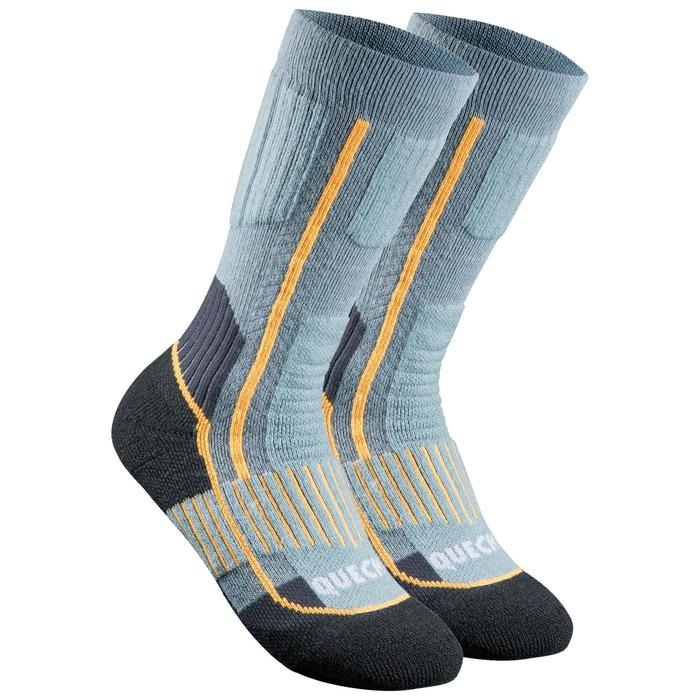 Calcetines cálidos de senderismo júnior SH520 x-warm azul/gris