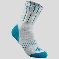 Kids' Snow Hiking Socks SH100 Warm Mid - Grey Blue.