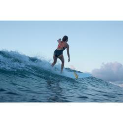 Bañador Deportivo Surf Olaian Bea Mujer Doble Ajuste Espalda Escote Negro Blanco
