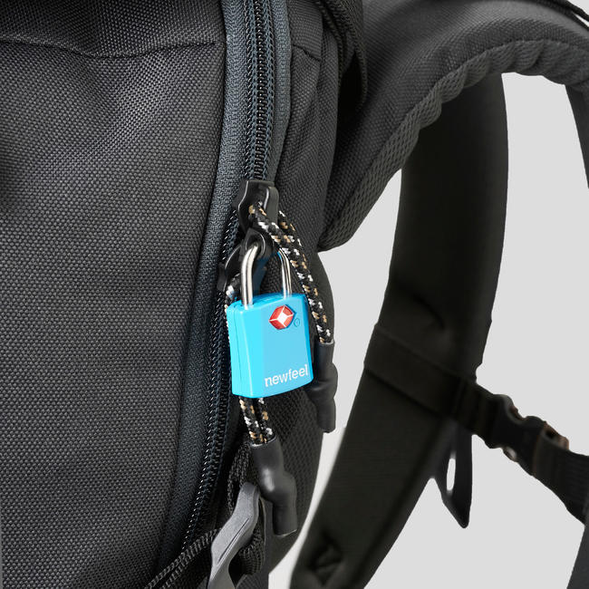 TRAVEL Backpack 100 _PIPE_ 40 Litre- Black