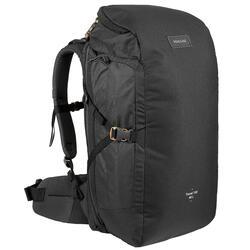 Compacte rugzak voor backpacken 40 liter Travel 100 zwart