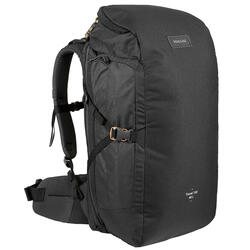 Trekking Travel Backpack 40 Litres | TRAVEL 100 - Black