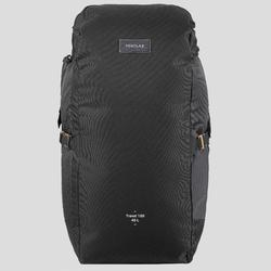 Compact 40 Litre Trekking Travel Backpack | TRAVEL 100 - Black