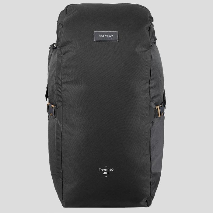 輕巧登山健行背包Travel 100 40 L-黑色