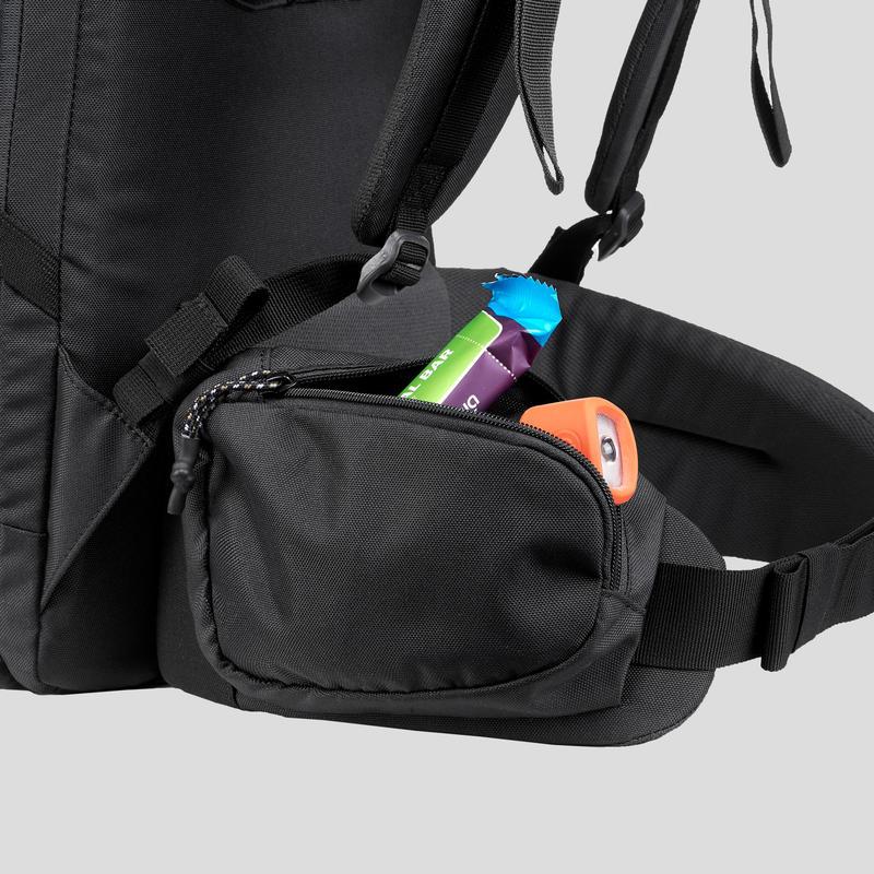 Trekking Compact 40 Litre Backpack Travel 100 - Black