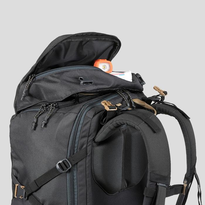 Compact 10 Litre Trekking Travel Backpack | TRAVEL 100 - Black